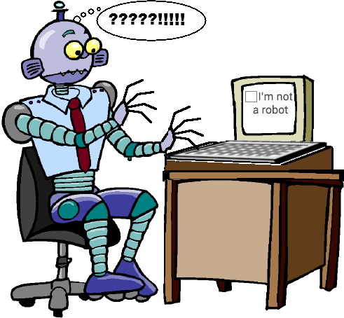 Robot confused by a Google reCAPTCHA