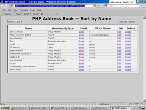 Address Book Sort Contacts By Name